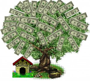 "Momma always said: ""Money doesn't grow on trees"""