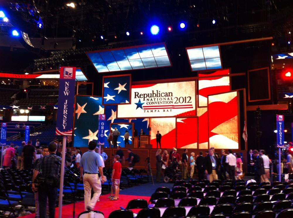 UNF student helps out at the Republican National Convention