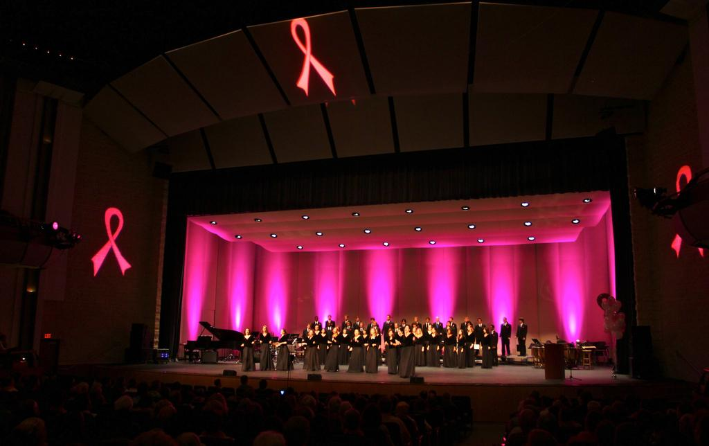 The UNF chorale performs at last year's Upbeat Pink concert 
