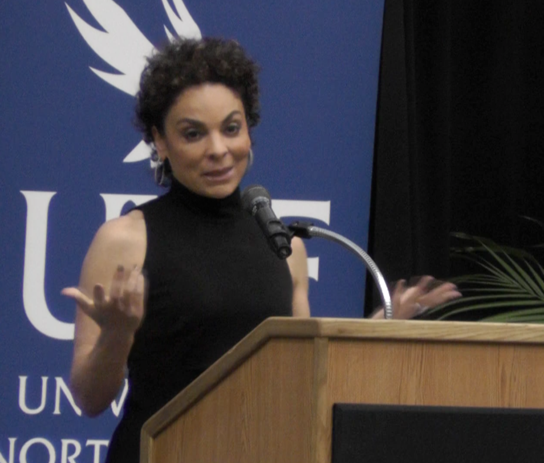 Jasmine Guy speaks about changing the world around you at the annual MLK Scholarship Luncheon.