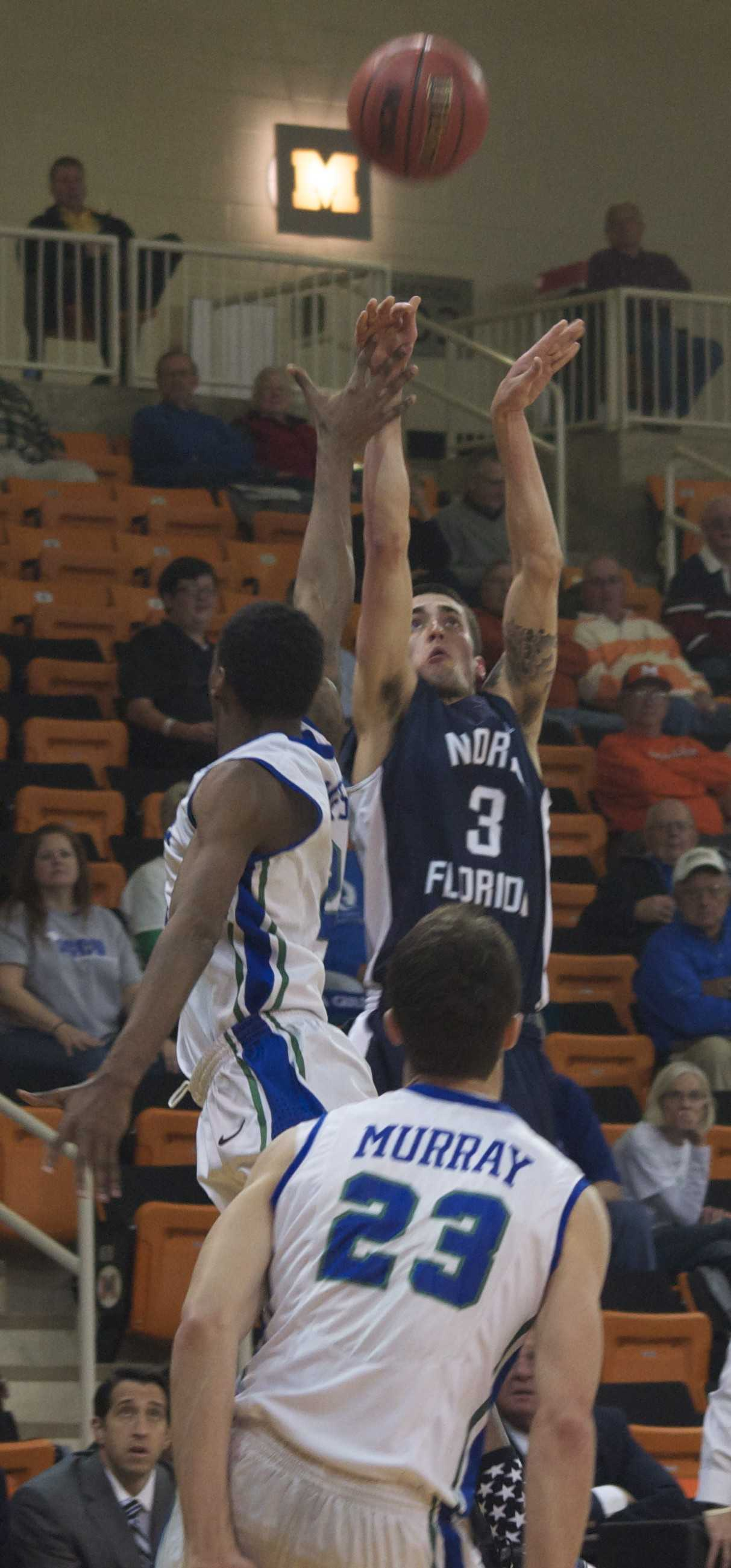 Photo Credit: Sean Patterson  Parker Smith's six 3-pointers were not enough to get past FGCU.