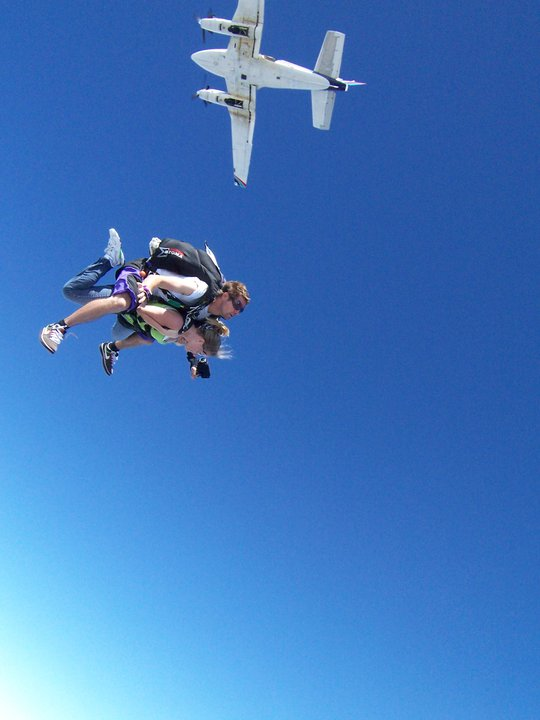 Skydiving event continues to take off