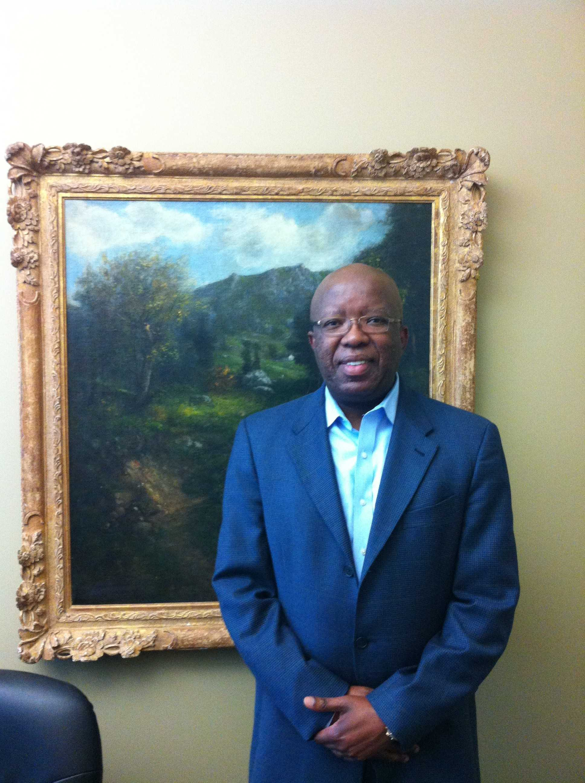 Seane in his office at UNF's Intercultural Center for PEACE.