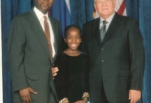 Seane with his daughter, Lerato, and Mikhail Gorbachev, the former president of the Soviet Union.