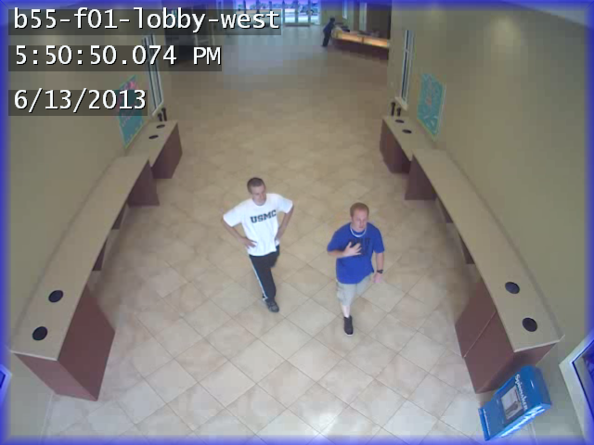 Surveillance footage from the Fountains courtesy of University Police.  Contact UPD at (904) 620-2800.
