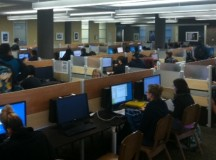 Some students who have problems with Wi-Fi simply go to the library. Photo by Blake Middleton