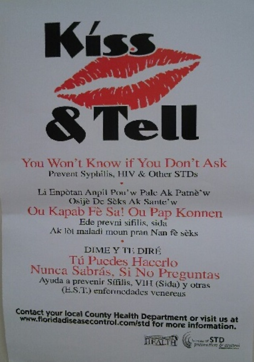 Campus posts gays kissing poster
