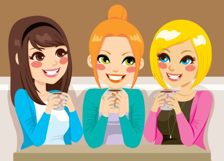 women talking at coffee shop(small)