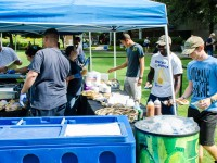 Student Government hosts a cookout on the Green for students completing survey