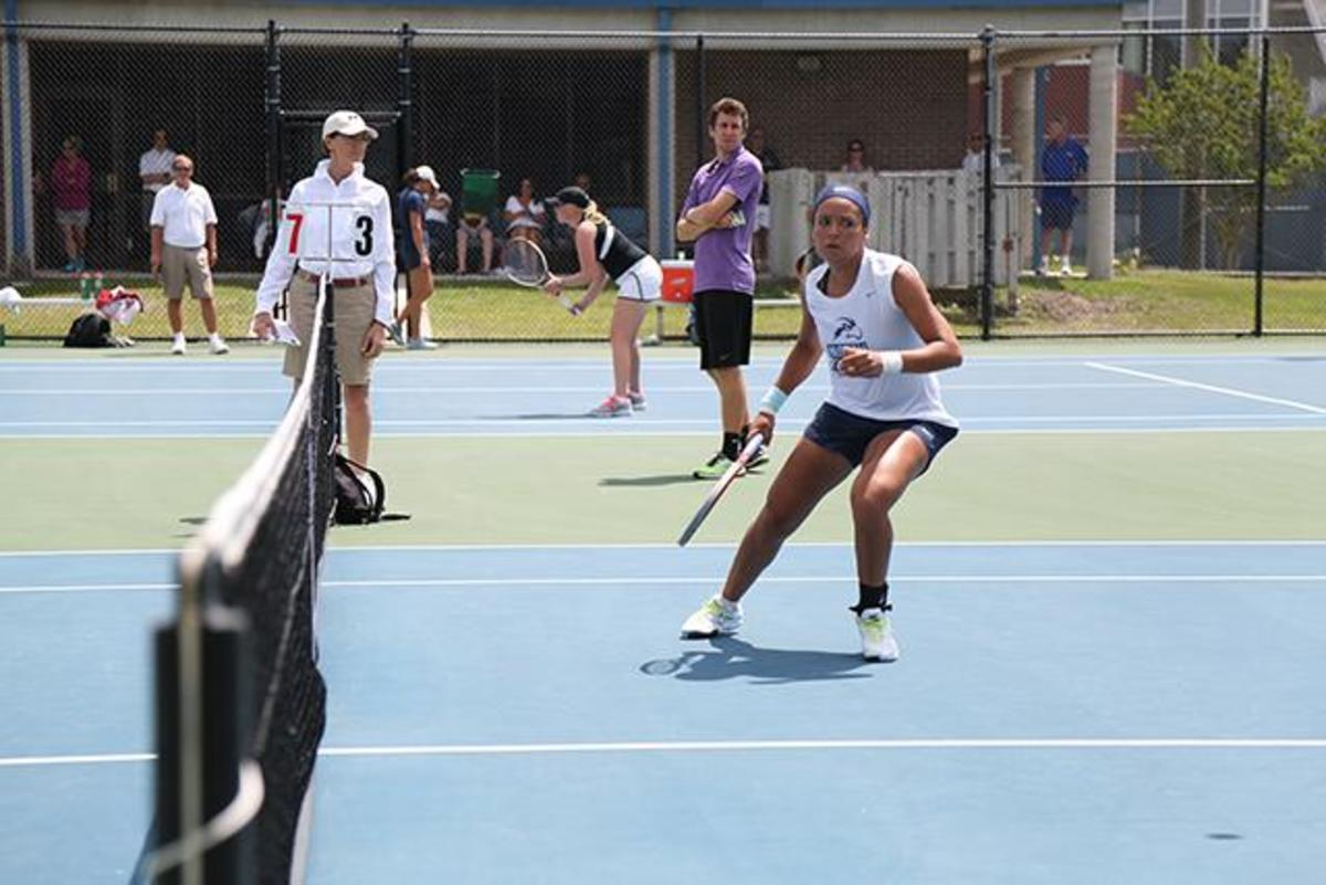 Celebrating a win and grieving a defeat: UNF tennis teams compete in A-Sun Championships