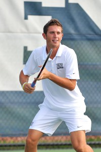 Jack Findel-Hawkins is UNF's first tennis player to qualify for the NCAA Singles Championship.Photo courtesy SE Sports Media