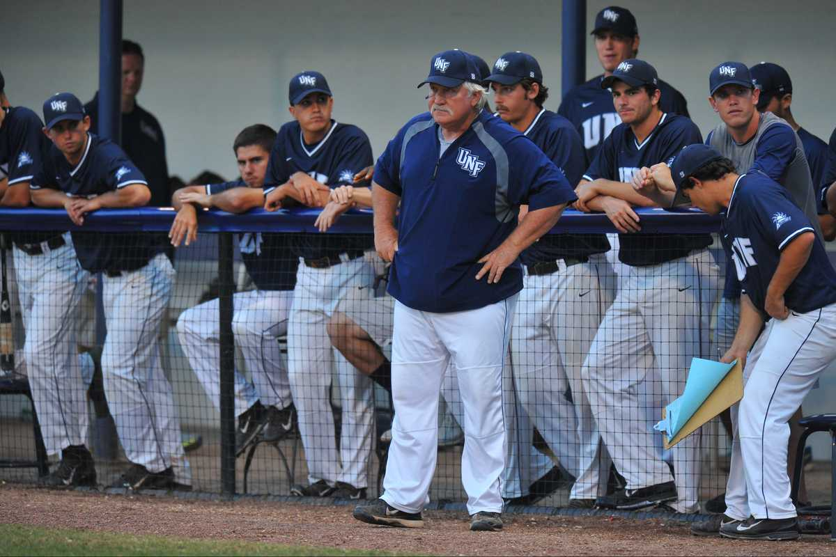 UNF Head Coach Smoke Laval is just the second baseball coach in North Florida's history, replacing 23-year veteran Dusty Rhodes in 2010.<br><em>Photo by Joslyn Simmons</em>