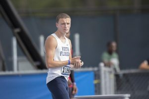 Sophomore Bobby Harris is the first active Osprey to qualify for the Olympic Trials. Photo by Morgan Purvis