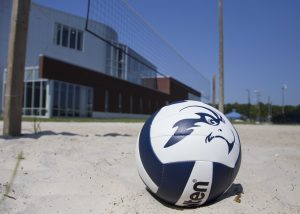 Sand volleyball splits first major tournament