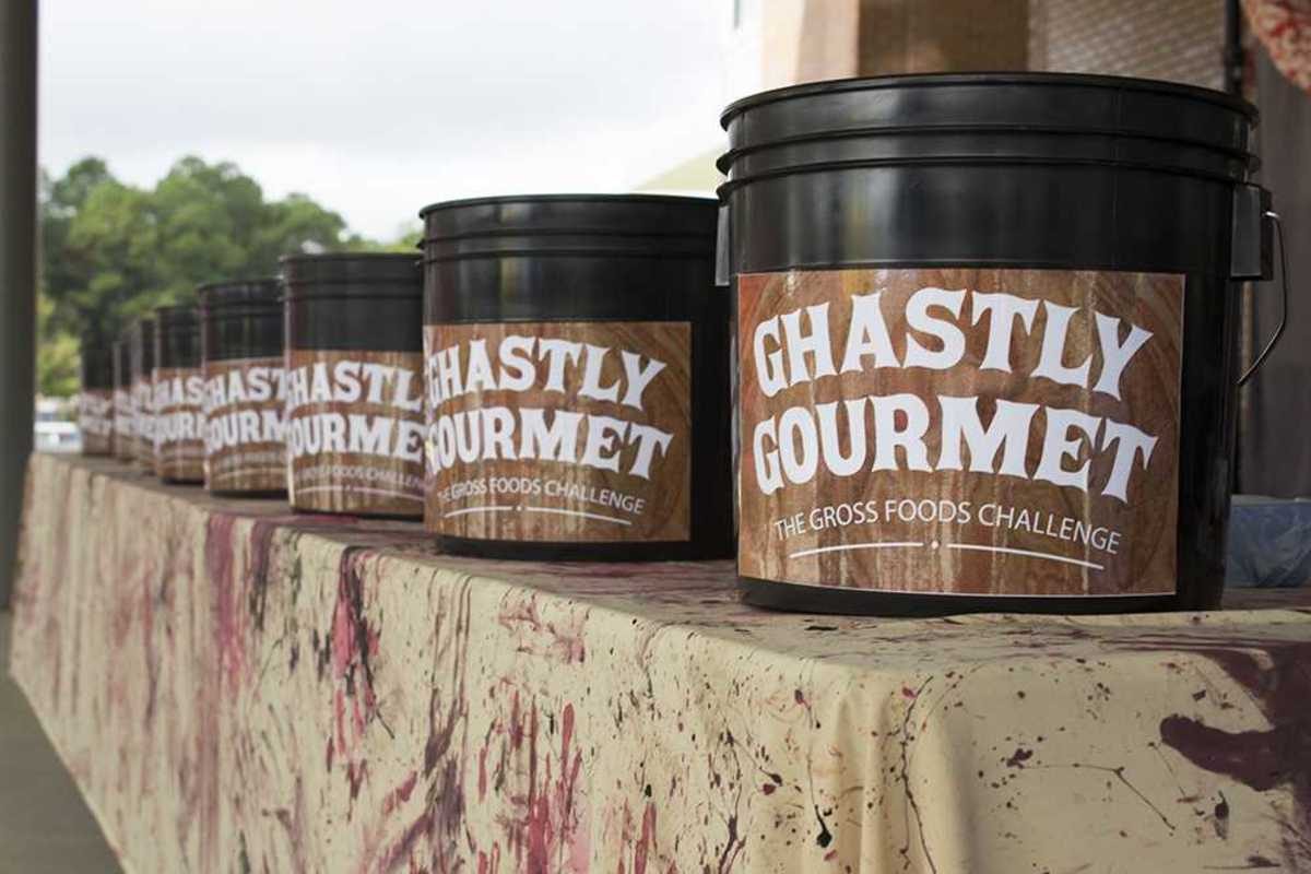 Vegemite and pork brains: students try Ghastly Gourmet at Market Day