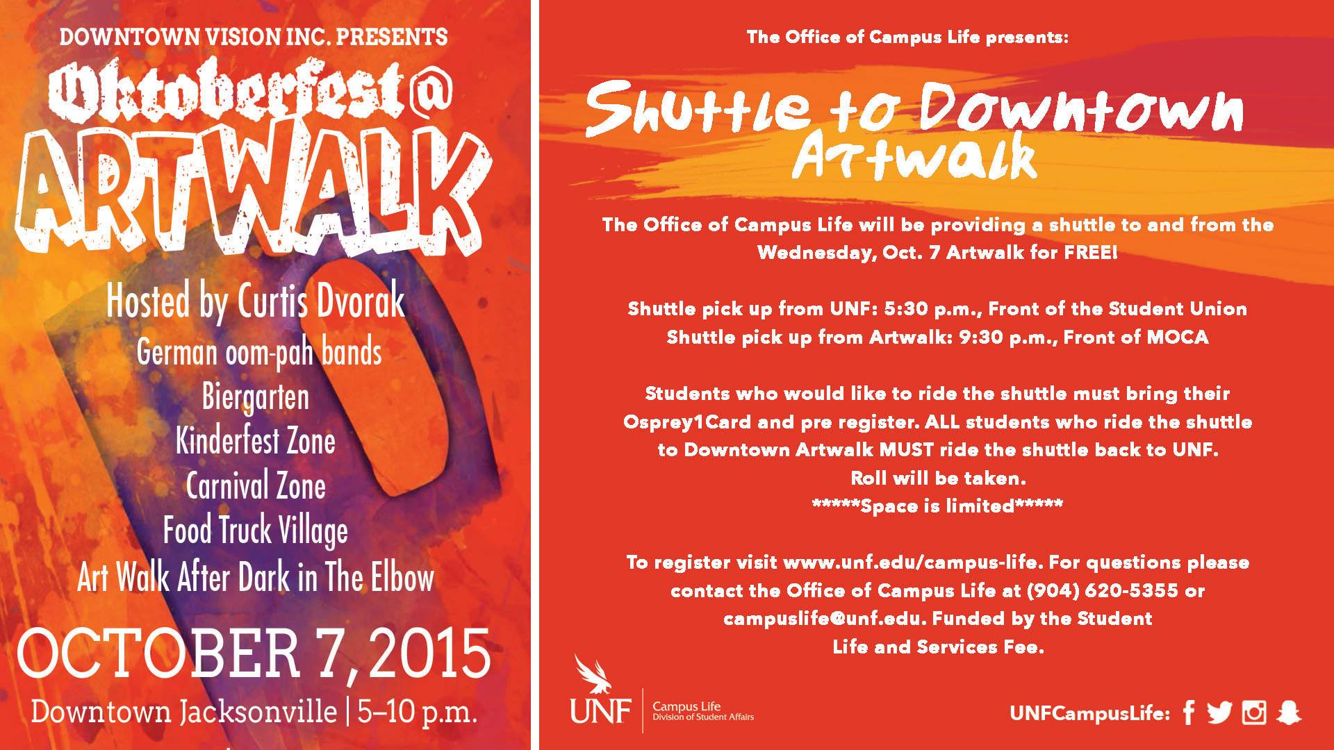 UNF provides shuttle to this month's Oktoberfest Artwalk