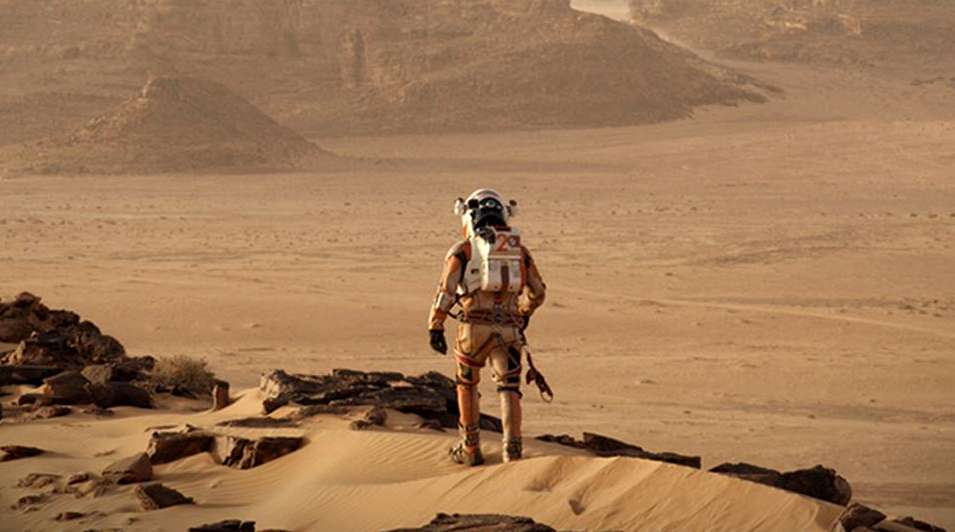 "Now Playing: Matt Damon says ""F**k you, Mars"" in Ridley Scott's The Martian"