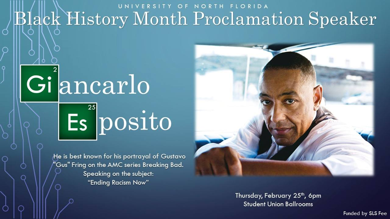 "Breaking Bad's ""Gus"" Giancarlo Esposito Concluded Black History Month at UNF"