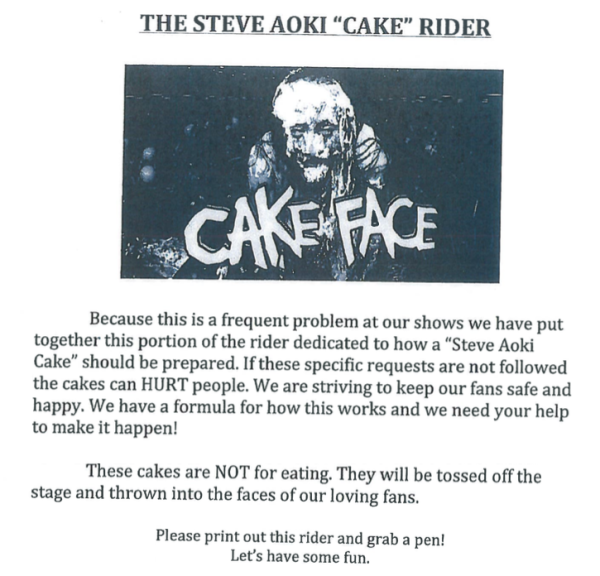 A little cake never hurt anybody...right? Draft contract rider courtesy Records office.