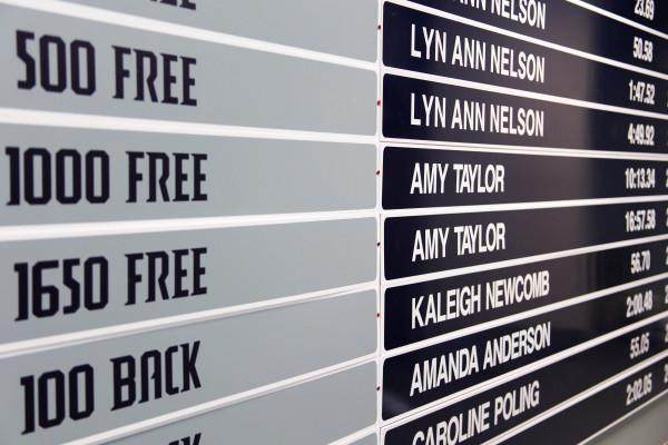 Amy Taylor's name will live long past her graduation. Photo by Jenn Mello