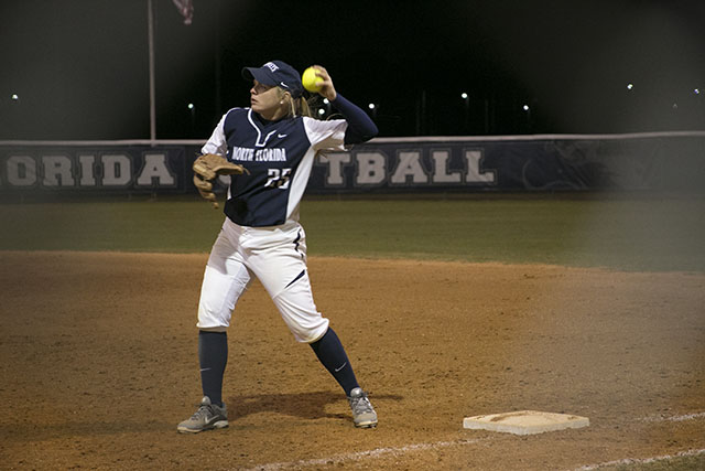 Stacy McClelland helped the Ospreys take their weekend series against Lipscomb to pull into a three-way tie for first. Photo by Camille Shaw