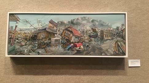 People relate to destruction reflected by Tsunami Art Exhibit