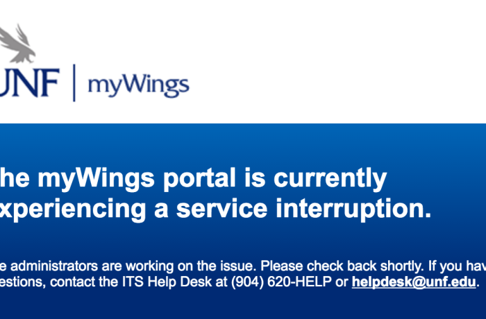 Screenshot of myWings homepage.