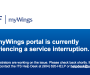 UPDATE: MyWings running again after unexpected error