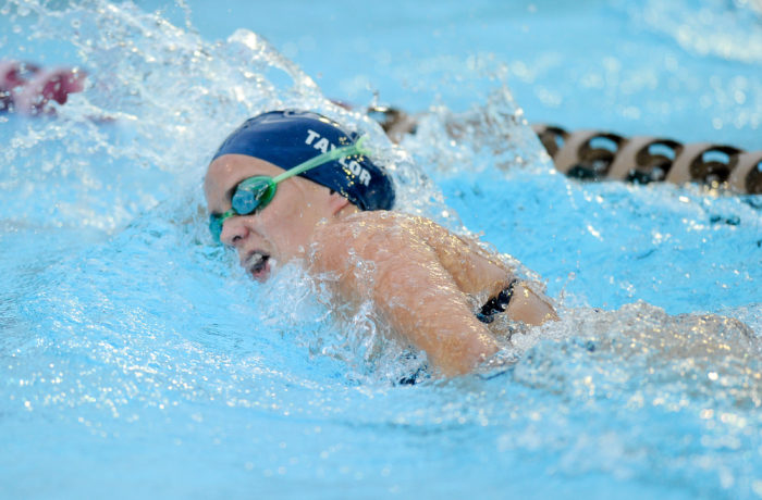 Amy Taylor, one of UNF's most prolific swimmers, remained at the University despite losing the pool.  Photo courtesy of UNF Athletics