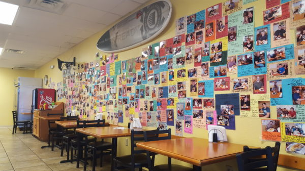 Customers can secure a spot on Colonel Mustard's wall of fame when they complete the burger challenge -- eating a three pound burger in under 15 minutes.