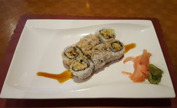 The eel and cucumber roll is made with grilled eel, sliced cucumbers and sweet eel sauce. Photo by Courtney Stringfellow