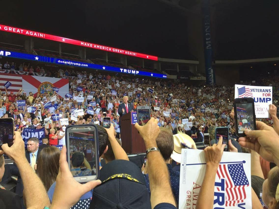 Thousands attend Trump rally in Jacksonville: Video Update