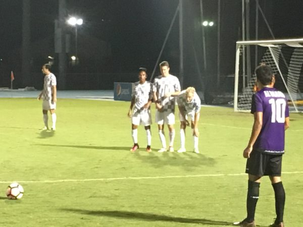 Men's soccer ends game in tie