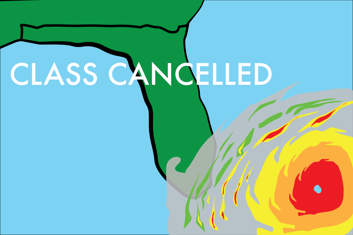 Change of plans: Monday Classes cancelled