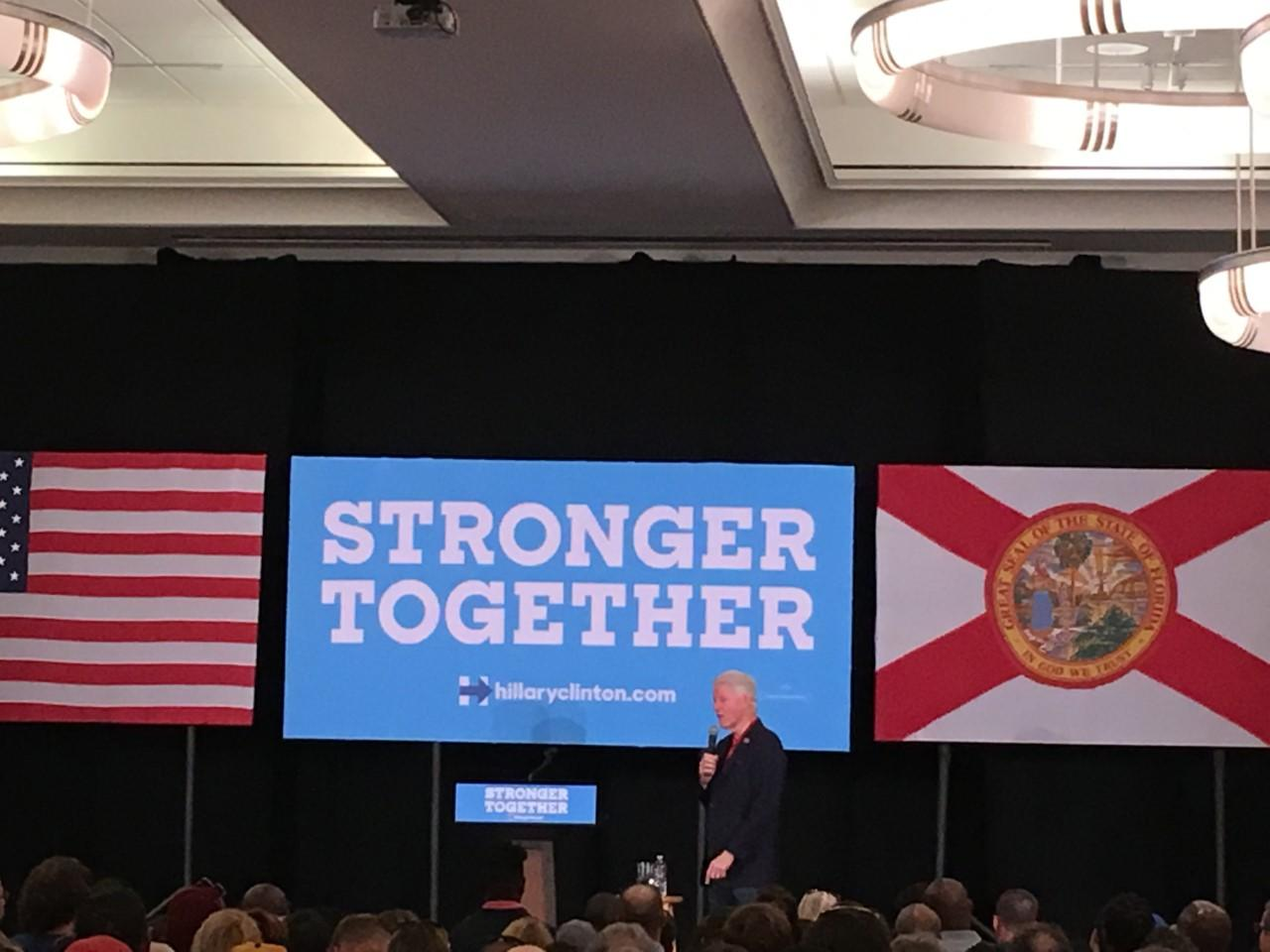 Clinton campaign comes through heart of Jacksonville