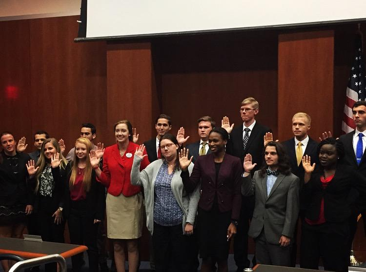 The Swearing-In of Senator-Elects. Photo courtesy of UNF Student Government
