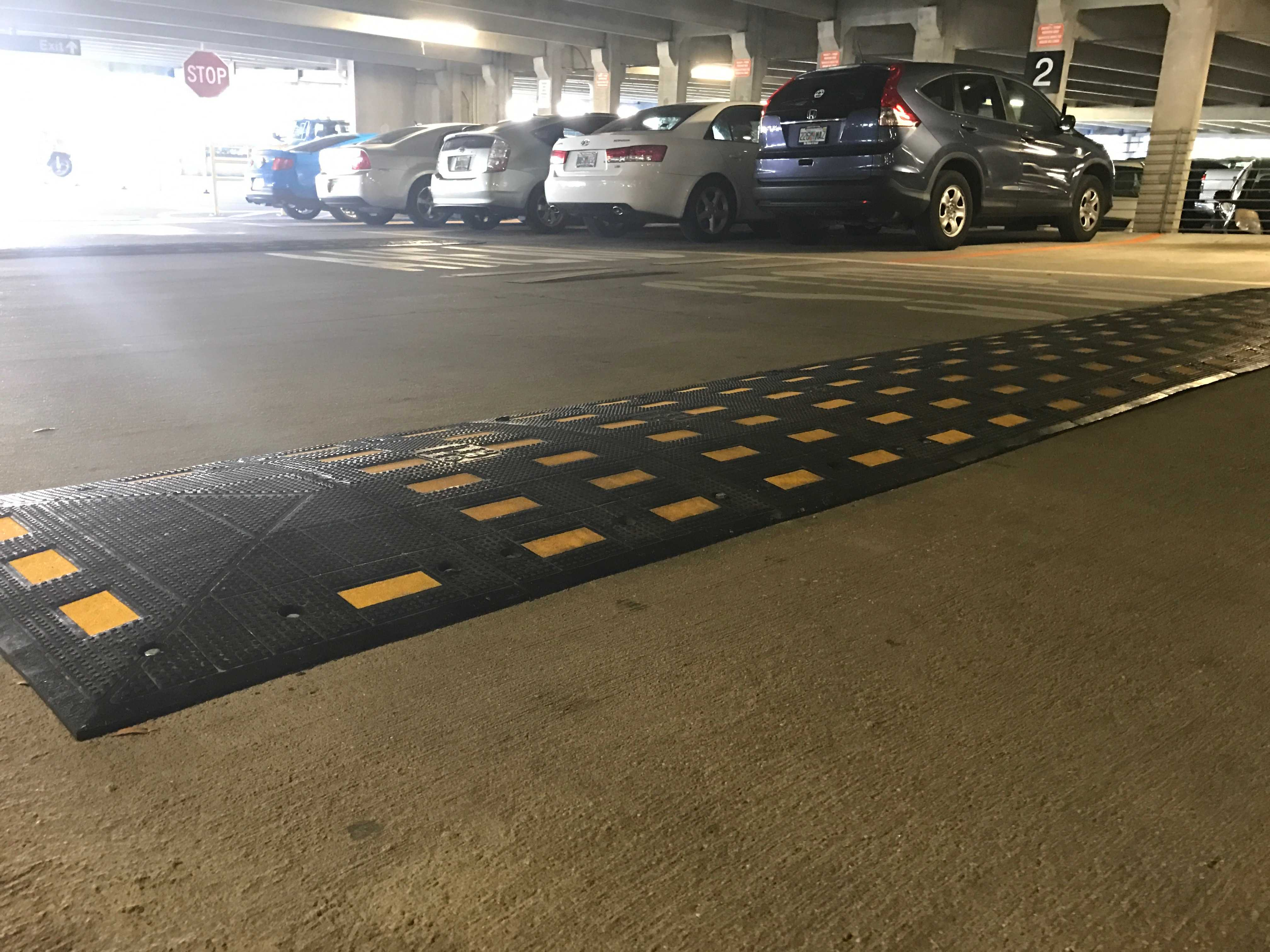 UNF adds speed bumps, signs, in Arena Parking Garage