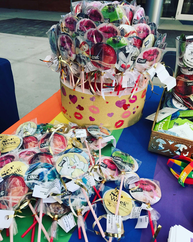 A condom cake for Sex Week. Photo by Angel Kalafatis
