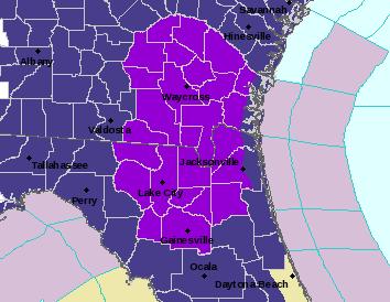 Freeze warning in effect for Jacksonville Thursday