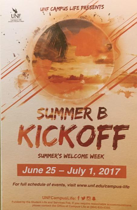 Summer B Kickoff Timeline