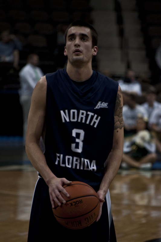 Photo Credit: Sean Patterson Parker Smith at the free-throw line Friday night against JU.