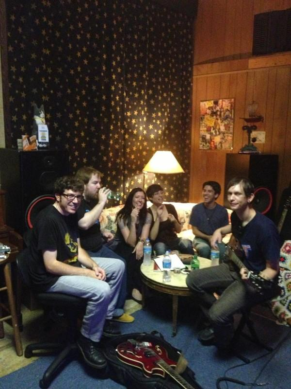 From left, Nathan Smith (guitarist/vocalist), Justin Irvin (drummer), Haley (friend), Jessica (friend), Mike Linsky (guitarist), and Mike Reeder (bassist)