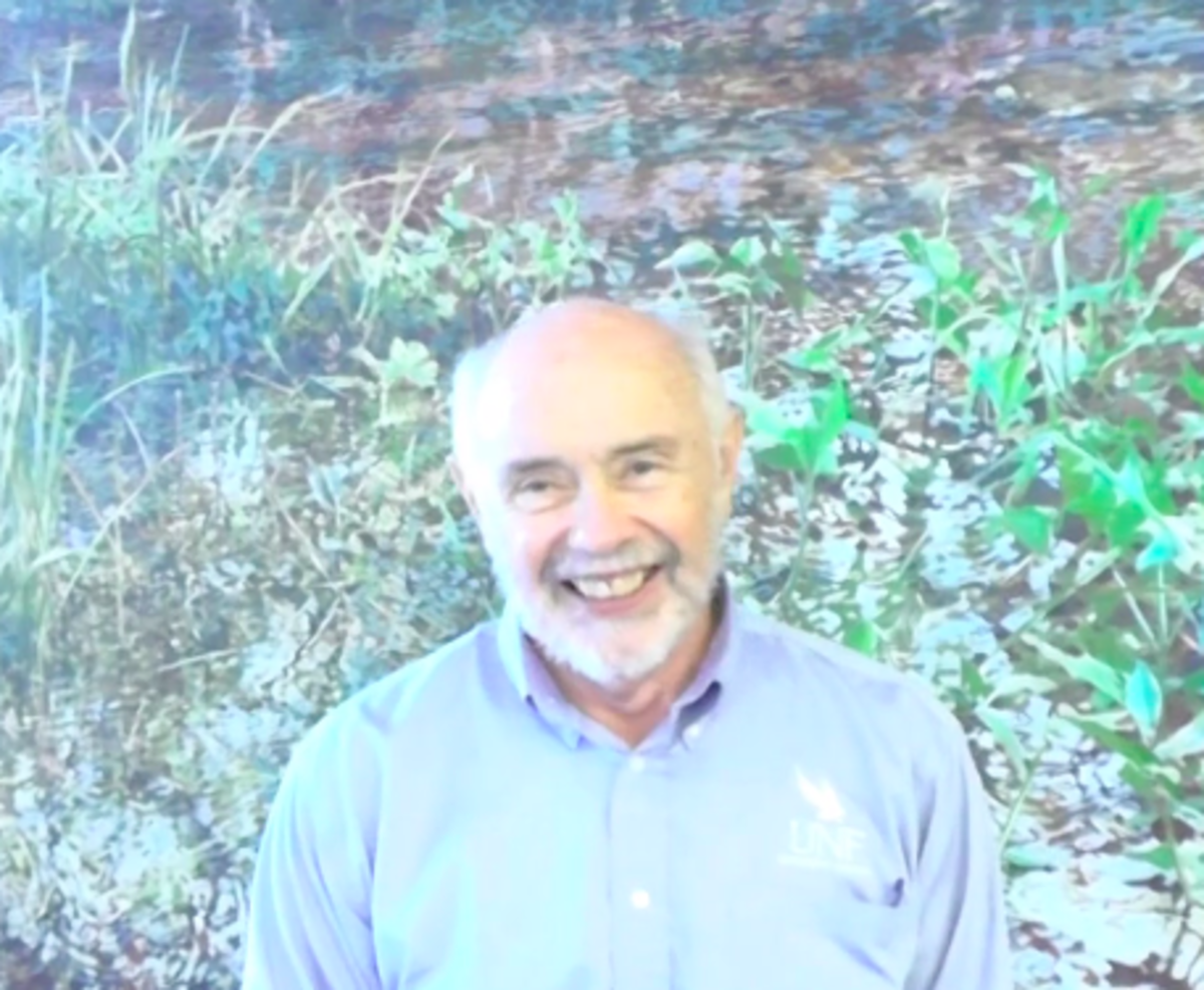 David Crabtree, Director of the Student Union, has worked at UNF since 1986. Photo from video by Lydia Moneir