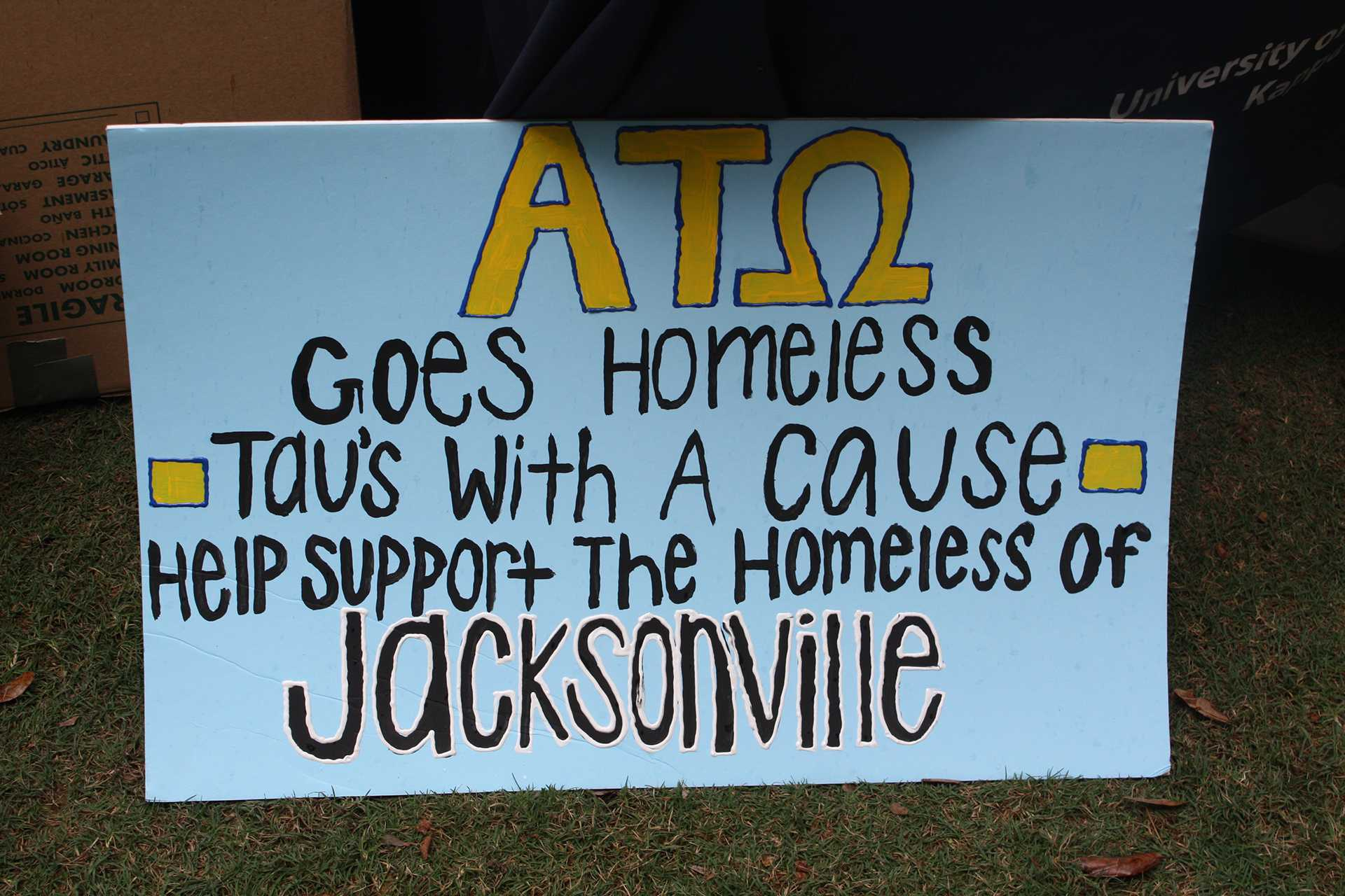Alpha Tau Omega Reaches Out To Jacksonville Homeless Unf Spinnaker