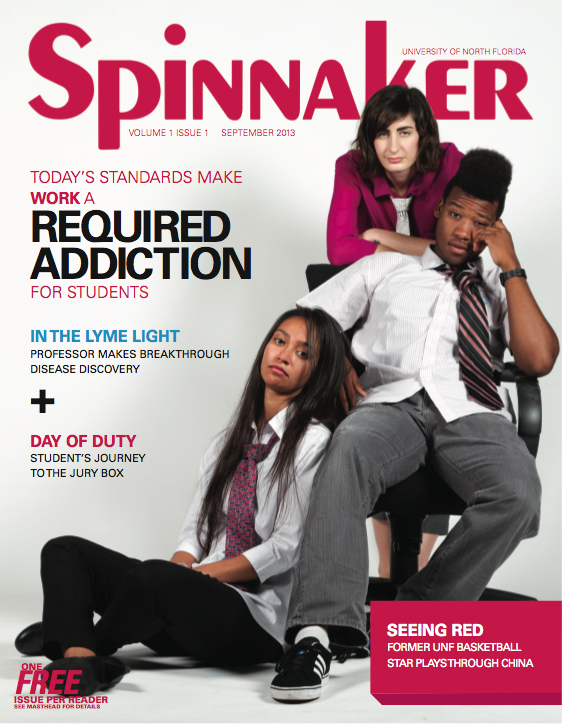 The cover of the September issue, and first edition as a magazine, of the Spinnaker.