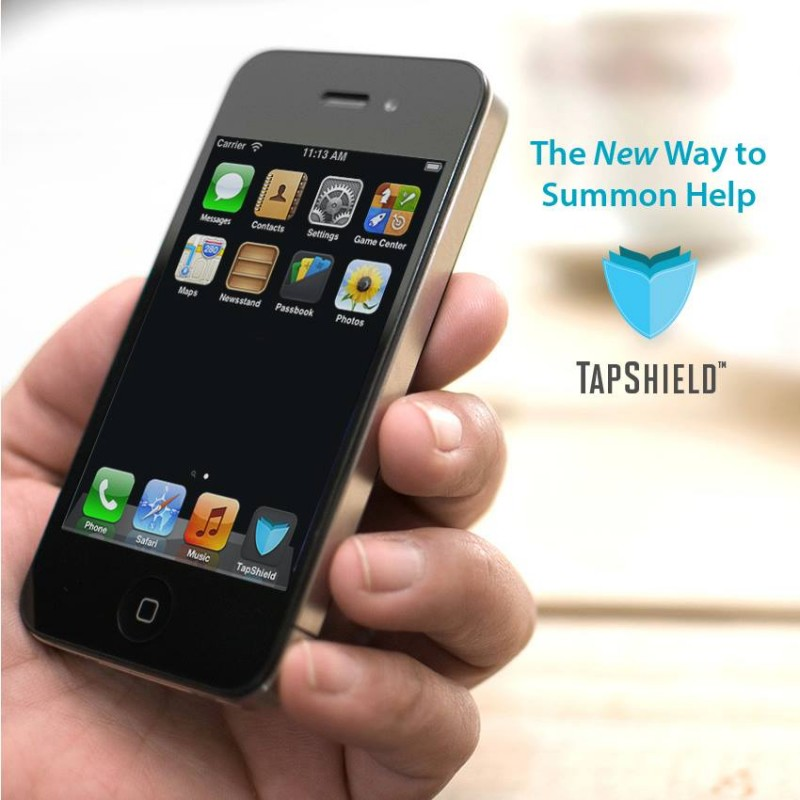 Tapshield is a security app that helps users notify police in case of an emergency. Photo courtesy of Facebook