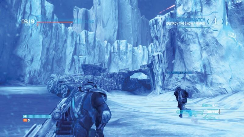 Players follow Jim Peyton throughout the futuristic snowy world of EDN III. Photo courtesy Facebook