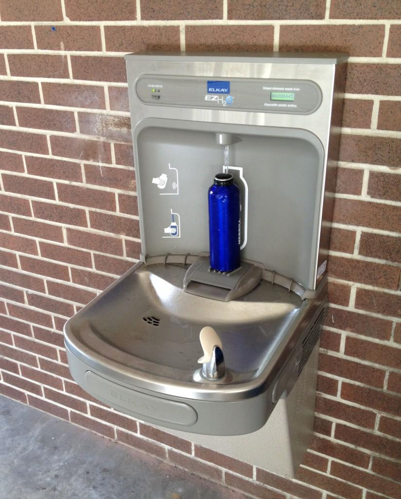 Look for the new hydration stations around campus. Photo by Lydia Moneir