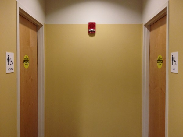UNF has some gender neutral bathrooms. The majority of bathrooms on campus, however, are gender specific. Photo by Lydia Moneir.