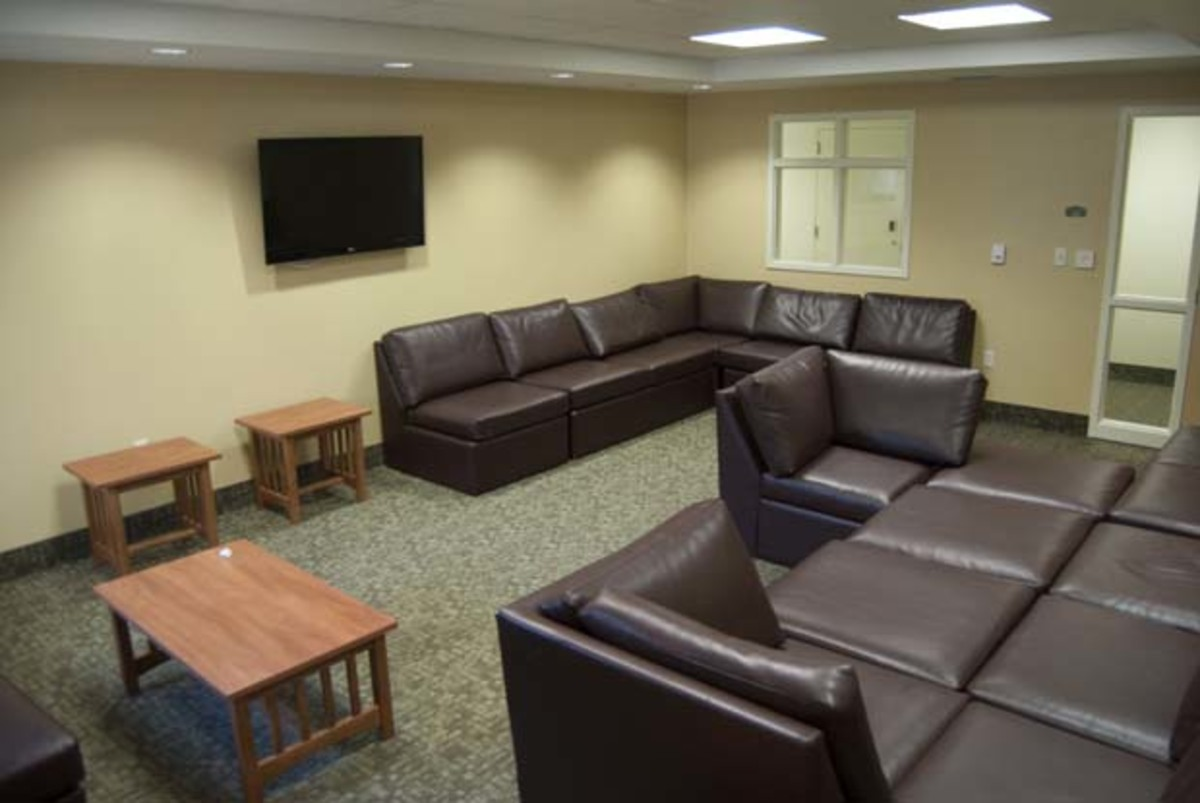 The third floor lounge on the third floor of Osprey Fountains North. Photo by Camille Shaw
